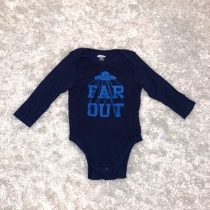 Old Navy Baby Boys Far Out Onesie Size 6-12M